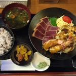 マグロ揚げ漬け定食(天ぷら付き)(ぼちぼち)