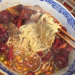あさりの麻辣担々麺(六徳 恒河沙)