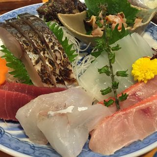 刺身盛り合わせ定食(魚佐)