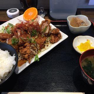 鶏の唐揚げゆずポン酢風味(定食屋 つかさ亭)