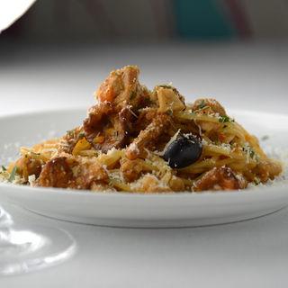 パンチェッタと黒胡椒のカルボナーラスパゲッティ(ラ・カンティーナ・センプレ (La cantina Sempre))