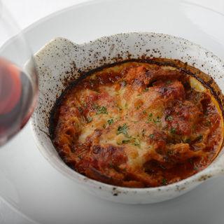 モッツアレッラチーズとトリッパのトマト煮のグラタンオーブン焼き (ラ・カンティーナ・センプレ (La cantina Sempre))