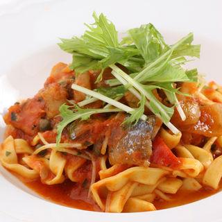 自家製アンチョビと季節野菜のスパゲッティ(La Giorgina)