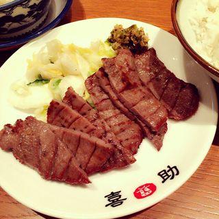 牛タン炭火焼き定食 塩味(味の牛たん喜助 東京恵比寿店 (アジノギュウタンキスケ))