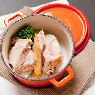 豚ロースと温野菜(和食 完全個室 かざね 銀座店 )