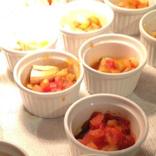 蒸し鶏と茸のラタトゥイユ添え(インペリアルバイキング サール (THE IMPERIAL VIKING SAL))