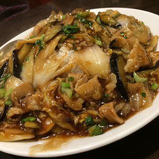 茄子肉のあんかけご飯(香港ロジ 原宿店 )