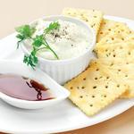 クリームチーズと豆腐のディップ