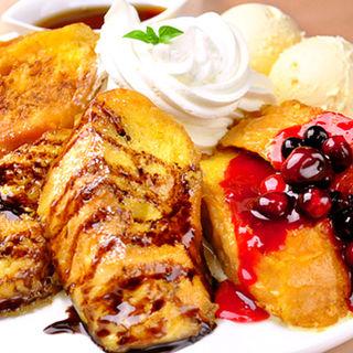 3種フレンチトースト(須田町食堂 秋葉原UDX店 (すだちょうしょくどう))