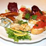 5種類のイタリアン前菜盛合わせ