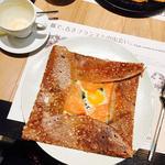 サーモンとほうれん草のガレットセット(ブレッツカフェ 京都店 (BREIZH Cafe))