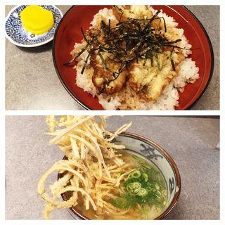 穴子天丼 (うどん付き)(大助うどん)