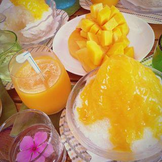 マンゴーかき氷(すくばりテラス)