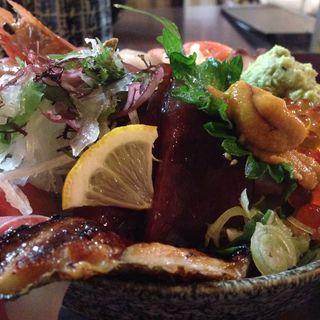 海鮮丼(大名庵)
