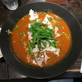 赤いかれー麺(激辛)(実之和 六本木店 (みのわ))