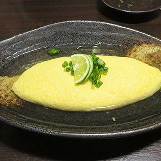 こだわり卵のオムレツ 明石焼き風(鶏料理ひとりひとり )