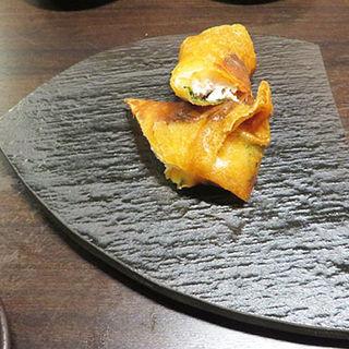 ささみと梅しそのモッツァレラチーズ揚げ (鶏料理ひとりひとり )