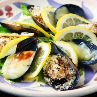 ムール貝と焼き野菜のマリネ(個室居酒屋 季節の台所 旬の蔵 秋葉原店 )