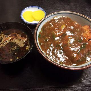 カツカレー丼(赤だし付)(みすゞ庵 西新店)