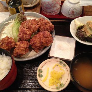 唐揚げ定食(普通の食堂いわま )