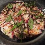 旬の鮮魚のカルパッチョ 柚子とマスタードのソース
