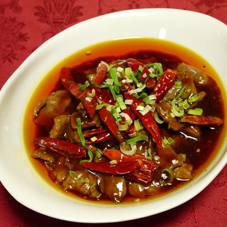 牛肉と餡かけ辛み炒め(老地方  (ラォディファン))