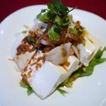 豆腐とイカの肉ミンチ味噌