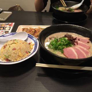 塩鶏白湯+半チャンセット(ちらん 天満店 )
