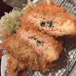 広島県産牡蠣フライとサーモンとチーズのはさみ揚げ御前