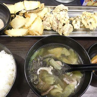 天ぷらセット(ひよこ)