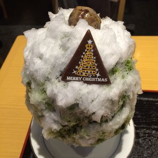 抹茶のクリスマスツリー(しもきた茶苑大山 )