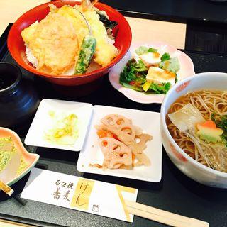 天丼膳(石臼挽蕎麦 げん 阪急西宮ガーデンズ)