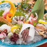 鮮魚のお造り七点盛り合わせ