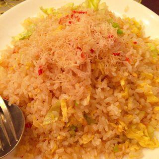 蟹肉とホタテ入りレタスチャーハン(上海料理「状元楼」)