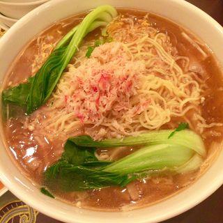 フカヒレと蟹肉入り煮込みつゆそば(上海料理「状元楼」)
