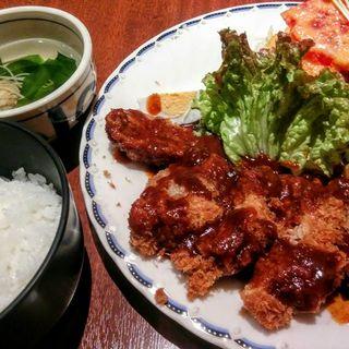 ミンチカツ定食(マルシェ )