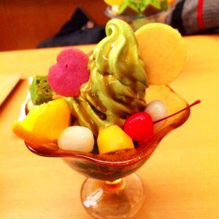 抹茶パフェ(舟和 本店 (ふなわ))