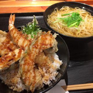 天丼と汁蕎麦(ISOGAMI FRY BAR (イソガミ フライ バル))