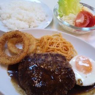 ハンバーグステーキ&ライス(冨士屋 (フジヤ))