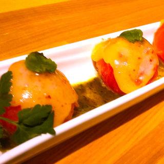 フルーツトマトの温製カプレーゼ(洋安健果 ベルポスト (Bel posto))