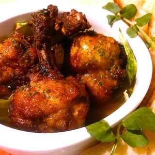 鶏肉と有機キャベツのアヒージョ(洋安健果 ベルポスト (Bel posto))