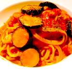 茄子とベーコンのスパゲティ