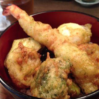 海老野菜天丼とさつま汁(s)(vege食堂 あらき家)