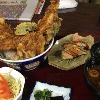 穴子一本天丼(海の幸 魚長 (うみのさちうおちょう))