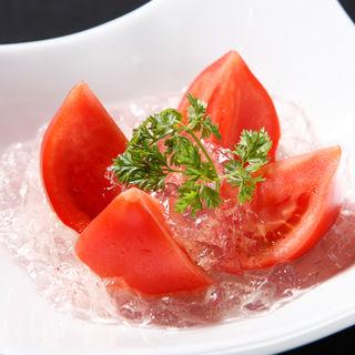 冷やしフルーツトマト岩塩ジュレ(和食鉄板 銀座 朔月 (さくつき))