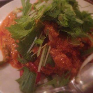 蟹と玉子のカレー炒め(タイ料理 パヤオ )