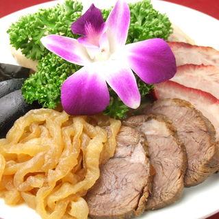 三種前菜の盛り合わせ(横浜中華街 千禧楼 中国料理)