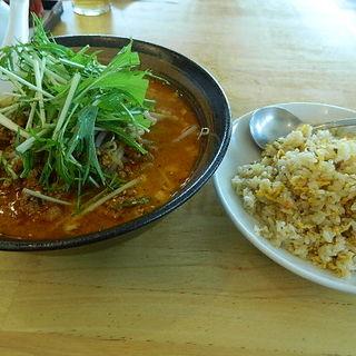 担担麺と炒飯(海味館)