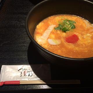 明太あんかけ玉子とじのおうどん(つるとんたん 新宿店 )