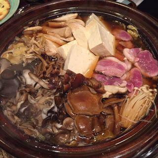 きのこ鴨鍋(やま茶屋)
